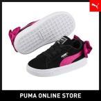 PUMA プーマ スウェード BOW AC インファント 12 Puma Black-Beetroot Purple