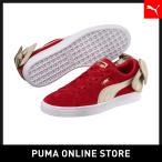 PUMA プーマ Suede Bow Varsity Wns 22 Ribbon Red-Metallic Gold