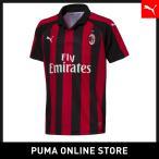 PUMA プーマ AC Milan HOME Shirt Replica SS KIDS with Sponsor Logo 116 Tango Red-Puma Black
