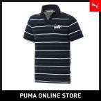 プーマ PUMA ESS+ ストライプ オープンポロシャツ メンズ ポロシャツ 2019年春夏 19SS
