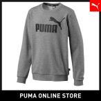 PUMA プーマ ESS Logo Crew Sweat TR B 120 Medium Gray Heather