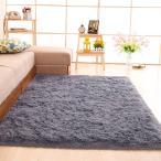 SANMU カーペット グレー ラグ120×160cm カーペット 洗える 防ダニ 滑り止め付き 冬 13色選べる センターラグ ふわふわ 床暖房対応
