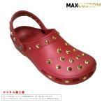 ショッピングジビッツ (新作)クロックス ネオパンク 純金メッキ カスタム クラシック 赤 ペッパー crocs custom サンダル メン ズ レディース