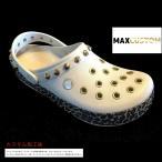クロックス パンク カスタム アニマル レオパード       白系      stucco/gold crocs custom        crocband animal clog    クロッグ サンダル