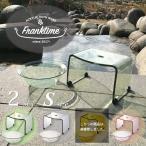 【送料無料】バスチェアーと風呂桶Sセット franktime 透明アクリルの風呂椅子 フランクタイム バス用品 お風呂用品