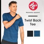 ショッピングトップス (MANDUKA) MENS ミニマリスト 2.0 Tee メンズ ヨガウェア Tシャツ トップス フィットネス ダンス  杢 メッシュ Vネック