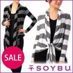(SOYBU) キャロライン ラップ ヨガウェア フィットネスウェア ウェア アウター 羽織 長袖  レディース ソイブー セール
