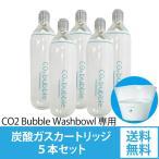 炭酸洗顔ボウル専用炭酸ガスカートリッジ5本セット CO2 Bubble Washbowl CO2バブルウォッシュボウル ポータブル 炭酸マイクロバブル 炭酸 洗顔器【送料無料】