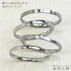 純チタン華奢リング 金属アレルギー対応 指輪 細いリング 刻印無タイプ ネコポス便送料無料 R073
