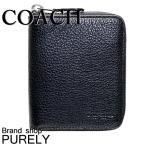 コーチ 財布 メンズ 全品ポイント2倍 COACH 折り財布 レザー ミディアム ジップ アラウンド ウォレット 91632 QB/BK ブラック