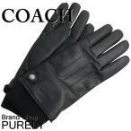 コーチ COACH 小物 手袋 メンズ アウトレット レザー グローブ F54183 BLK ブラック M