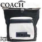 コーチ COACH バッグ メンズ リュック アウトレット パーフォレイテッド レザー テイレン バックパック F56662 HABK チョーク×ブラック