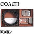 コーチ COACH 小物 ベルト メンズ アウトレット レザー ベルト 専用BOX付き ギフト F65186 AQ0 ブラック×ダークブラウン