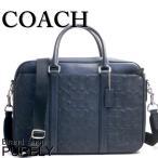 コーチ COACH バッグ メンズ ブリーフケース アウトレット F72230 MID ミッドナイト シグネチャー レザー ペリー スリム ブリーフ ビジネスバッグ