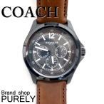 コーチ COACH 時計 メンズ 腕時計 ステンレス レザー ベルト ウォッチ 腕時計 レザーバンド アウトレット W5007-BK/SD ブラック×サドル