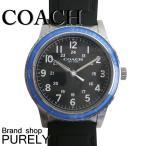 コーチ COACH 時計 アウトレット メンズ リビングトン ステンレス スティール ラバー ストラップ ウォッチ 腕時計 W5015 F3A ブラック