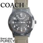 コーチ COACH 時計 アウトレット メンズ リビングトン ラバー ストラップ ウォッチ 腕時計 W5016 EAX ミリタリー×ブラック