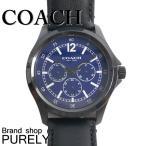 コーチ COACH 時計 メンズ 腕時計 レザー ベルト ウォッチ 腕時計 レザー バンド アウトレット W5019 BK/NV ブラック×ネイビー