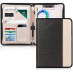 クリップボード A4 バインダー Toplive クリップファイル 書類フォルダー 高級PUレザー 収納ポケット搭載 ペンホルダー付き ファスナー開閉式 ノートカバー 多機