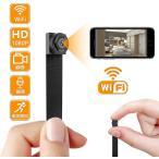 Wi-Fi 小型カメラ 長時間録画録音,1080P高画質防犯用監視カメラ 屋外/屋内用 ネットワークカメラ iPhone/Android 遠隔操作 動体検知 携帯便利 日本語取扱