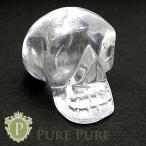 水晶 ドクロ 置物 天然石 パワーストーン 水晶髑髏 クリスタルスカル 水晶 置物
