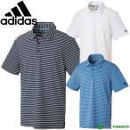 アディダスゴルフ ストレッチ CP ULTIMATE365 ミニストライプ 半袖ポロシャツ メンズ DRE59 ボーダー