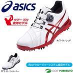 アシックス メンズ ゴルフシューズ GEL-ACE PRO FG Boa 25.0cm ホワイト レッド TGN916