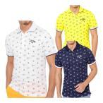 キャロウェイ モノグラムプリントボーダージャガード 半袖ポロシャツ メンズ 241-9151521