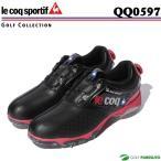 ショッピングゴルフシューズ ルコックゴルフ ゴルフシューズ メンズ QQ0597 ブラック(N100)ヒールダイヤル式WLS le coq sportif 靴 即納