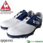 ルコックゴルフ ゴルフシューズ メンズ QQ0592 ホワイト×ブルー ヒールダイヤル式WLS 即納