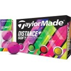 テーラーメイド ゴルフボール ディスタンス+ ソフト マルチカラー ボール 1ダース 日本仕様