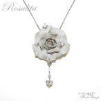 バラ 薔薇/ペンダントトップ/キュービックジルコニア×シルバー925 GTP015/Rosalita/アクセサリーのギフト・プレゼントに/ czダイヤモンド