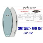 21 SURFTECH サーフテック SOFTOP GERRY LOPEZ ジェリー・ロペス (RIVER BOAT) (サイズ:4.10 5.4)2021 正規品 SURFBOARD サーフボード サーフィン ロングボード