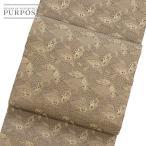 リサイクル 正絹 着物 きもの 袋帯 丸帯 アンティーク 葉模様 金糸