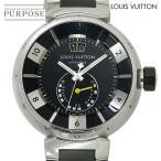 LOUIS VUITTON タンブール インブラック パワーリザーブ メンズ 腕時計 デイト 自動巻き オートマ ウォッチ ルイ ヴィトン