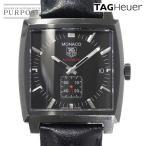 タグホイヤー TAG HEUER モナコ WW2119 メンズ 腕時計 スモールセコンド デイト ブラック 黒 文字盤 自動巻き オートマ ウォッチ