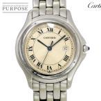 ショッピングカルティエ カルティエ Cartier パンテール クーガーLM ボーイズ 腕時計 デイト アイボリー 文字盤 クォーツ ウォッチ