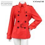 ショッピングコーチ コーチ COACH トレンチコート ベルト付き 長袖 アウター レッド オレンジ Sサイズ レディース