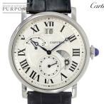 カルティエ Cartier ロトンド グランドデイト レトログラード メンズ 腕時計 W1556368 シルバー 文字盤 ウォッチ