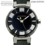 ルイ ヴィトン LOUIS VUITTON タンブール インブラックMM ディアモン Q131Q ダイヤ ボーイズ 腕時計 クォーツ ウォッチ レア