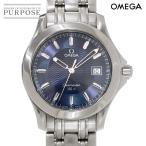 オメガ OMEGA シーマスター120 メンズ 腕時計 2511 81 ネイビー 文字盤 デイト クォーツ 電池式