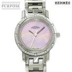 エルメス HERMES クリッパーナクレ CL4 230 レディース 腕時計 12P ダイヤ ピンクシェル 文字盤 クォーツ ウォッチ