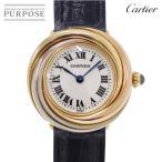 カルティエ Cartier トリニティ レディース 腕時計 K18 WG YG PG スリーカラー ホワイト イエロー ピンク ゴールド クォーツ ウォッチ