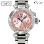 カルティエ Cartier ミスパシャ W3140008 レディース 腕時計 ピンク 文字盤 クォーツ ウォッチ