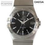 オメガ OMEGA コンステレーション 123 10 10 35 60 01 001 メンズ 腕時計 デイト ブラック 文字盤 クォーツ ウォッチ