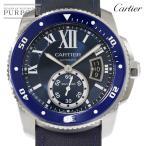 カルティエ Cartier カリブル ドゥ カルティエ ダイバー WSCA0010 メンズ 腕時計 ブルー 青 オートマ 自動巻き ウォッチ