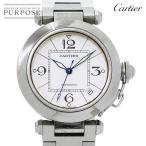カルティエ Cartier パシャC W31074M7 ボーイズ 腕時計 ホワイト 白 文字盤 オートマ 自動巻き ウォッチ