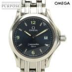 オメガ OMEGA シーマスター 120 レディース 腕時計 2571 81 デイト ブルー 文字盤 クォーツ ウォッチ