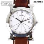 エルメス HERMES Hウォッチ ロンド HR1 710 メンズ 腕時計 ホワイト 白 文字盤 クォーツ ウォッチ