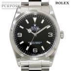 ロレックス ROLEX エクスプローラ1 14270 U番 メンズ 腕時計 ブラック 文字盤 オートマ 自動巻き ウォッチ